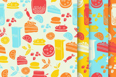 Bonbons eingestelltes Muster Stockfotos