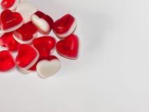 Bonbons en forme de coeur images libres de droits