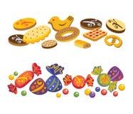 Bonbons et biscuits Photos stock