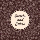 Bonbons et fond de boulangerie Image libre de droits