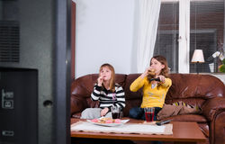 Bonbons et TV Photos libres de droits