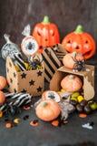 Bonbons für Halloween Stockfotos