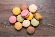 Bonbons, Hintergrund, Macaron lizenzfreies stockbild
