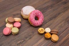 Bonbons, Hintergrund, Macaron stockfotos