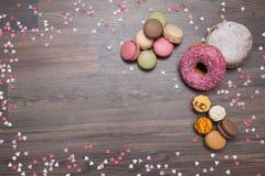 Bonbons, Hintergrund, Macaron stockfoto