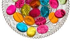 Bonbons im Süßigkeit-Teller Lizenzfreie Stockfotografie