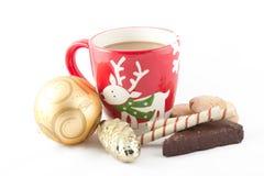 Bonbons mit Weihnachtsdekor Lizenzfreie Stockfotos