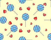 Bonbons pour le jour du ` s de Valentine, modèle sans couture Image stock
