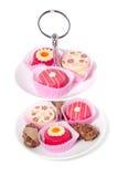Bonbons pour un haut thé Photographie stock