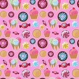Bonbons sans couture frais à modèle Images libres de droits