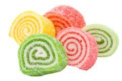 Bonbons spiralés à gélatine Photographie stock