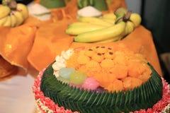 Bonbons thaïlandais ou Khanom thaïlandais Photographie stock libre de droits