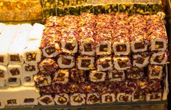 Bonbons traditionnels à plaisir turc de tabouret Photos libres de droits