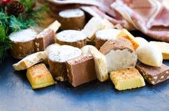Bonbons typiques à Noël en Espagne Images stock