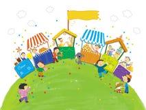 Bonbons und Süßigkeiten für die Kinder Stockbild