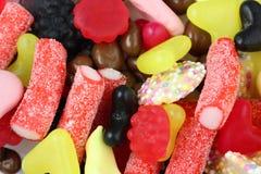 Bonbons und Süßigkeitmischungsabschluß oben Stockbild