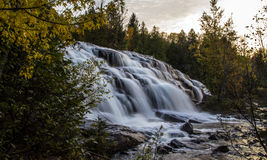 Bond Falls. Beautiful Bond Falls in Michigan's Upper Peninsula accented by fall foliage Royalty Free Stock Image
