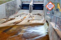 Bond Falls Flowage Dam Stock Photo