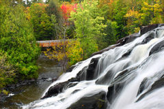 Bond Falls Michigan. Bond Falls is a spectacular waterfall on the Ontonagon River in northern Michigan Stock Photos