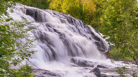 Bond Falls, Middle Branch Ontonagon River, MI Royalty Free Stock Photo