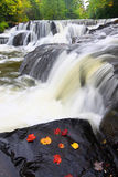 Bond Falls in northern Michigan Stock Image