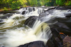 Bond Falls in northern Michigan Stock Photo