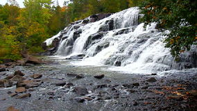 Bond Falls Scenic Area. On an autumn day in the northwoods of Michigan stock video