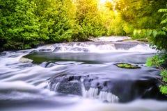 Bond Falls. In Upper Peninsula, Michigan. Long exposure Royalty Free Stock Photos