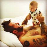 The bond a father has with his child.. Royalty Free Stock Photos