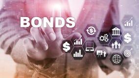 Bond Finance Banking Technology Business concept. Electronic Online Trade Market Network. Bond Finance Banking Technology Business concept. Electronic Online vector illustration