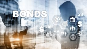 Bond Finance Banking Technology Business concept. Electronic Online Trade Market Network. royalty free stock photography