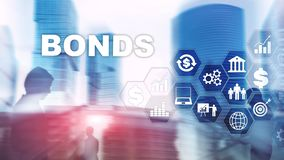 Bond Finance Banking Technology Business concept. Electronic Online Trade Market Network. royalty free stock photos
