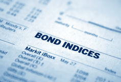 Bond  indices Royalty Free Stock Photos