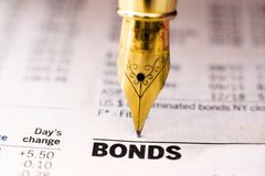 Bond indices Stock Image