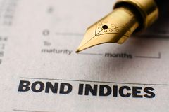 Bond indices Stock Images