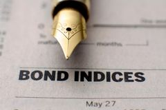 Bond indices Stock Photos