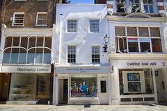 Bond street boutiques, street of famous small fashion businesses Stock Photo