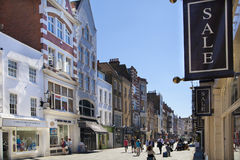 Bond street boutiques, street of famous small fashion businesses Royalty Free Stock Photo