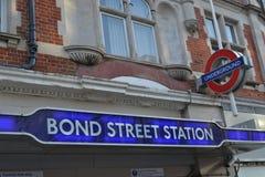 Bond Street underground station Stock Photography