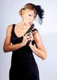 Bond woman portrait Royalty Free Stock Images