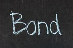 BOND words Stock Photos