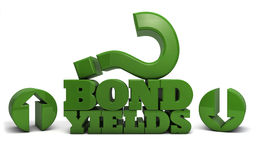 Bond Yields up or down Stock Images