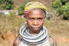 Bonda old tribal woman Stock Image