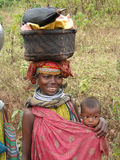 Bonda tribal woman Stock Photography