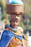Bonda tribal woman. India: Orissa State has 62 distinct tribal groups, making it the largest collection of tribal people in a single state in the country. The Royalty Free Stock Image