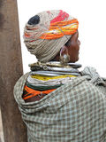Bonda tribal woman with elaborate necklaces Stock Images