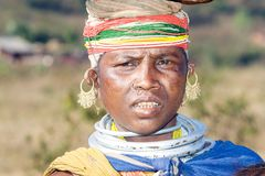 Bonda tribal woman in the market Royalty Free Stock Photo