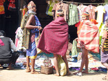 Bonda tribal women in the market Royalty Free Stock Image