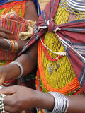 Bonda tribal women offer their handmade crafts Royalty Free Stock Images