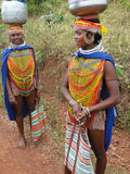 Bonda tribal women pose Stock Photo